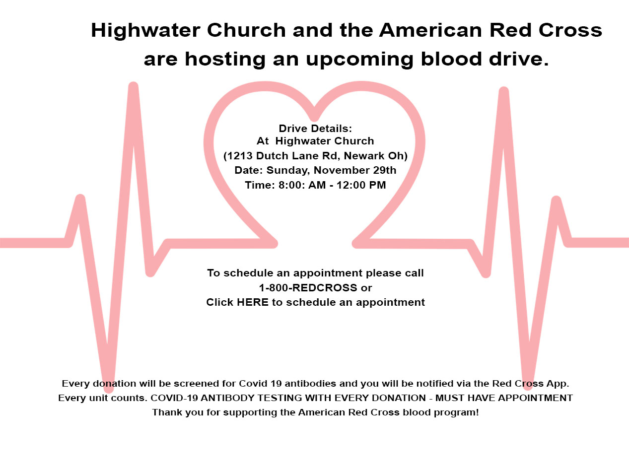 Highwater Church Blood Drive
